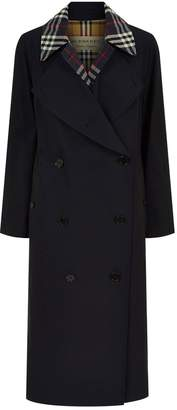 Burberry Check Layered Trench