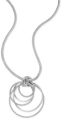 Thalia Sodi Silver-Tone Multi-Ring Pendant Necklace, Created for Macy's