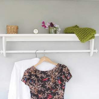 Rails Seagirl and Magpie Vintage Styled Wooden Clothes Rail With Top Shelf