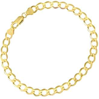Citerna Women's 9 ct Yellow Gold Double Curb Bracelet of Length 18.5 cm QFD2iUUy