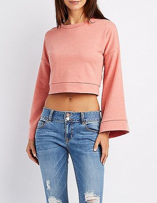 Bell Sleeve Pullover Sweatshirt $19.99 thestylecure.com