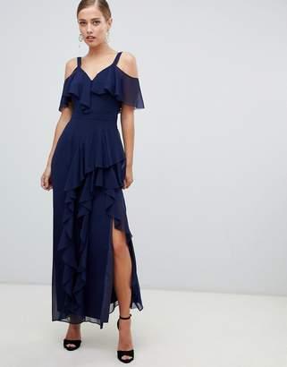 Coast Illy ruffle cold shoulder maxi dress