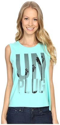 Life is good Unplug Palm Trees Muscle Tee $20 thestylecure.com