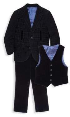 Little Boy's & Boy's Rockstar Three-Piece Velvet Suit