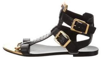 Balmain Python Ankle-Strap Sandals