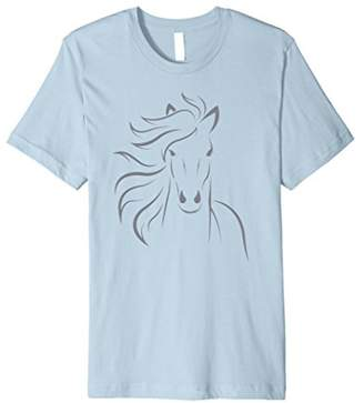 Life is Good Beautiful Horse Lover Equestrian Riding Shirt