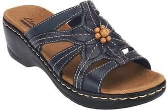 Clarks Leather Slides w/ Bead Detail - Lexi Myrtle