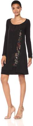Desigual Women's Carlee Woman Knitted Long Sleeve Dress, black, S