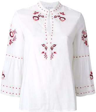 Vilshenko embroidered floral blouse
