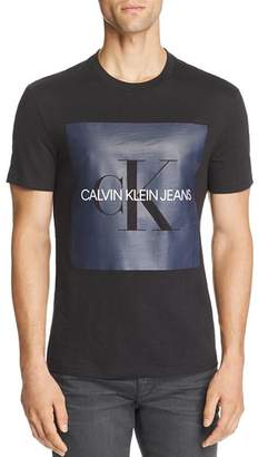 Calvin Klein Jeans Logo Reissue Slub-Knit Graphic Tee