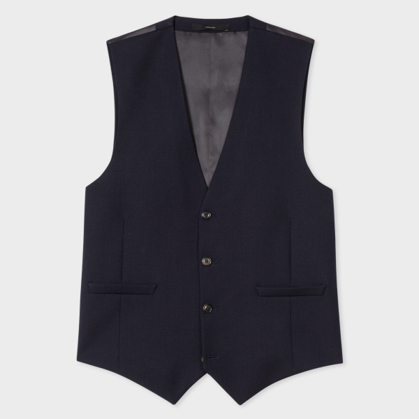 Paul SmithA Suit To Travel In - Men's Tailored-Fit Navy Wool Waistcoat