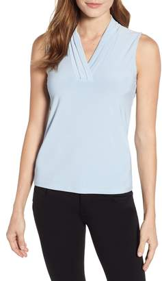 Anne Klein Triple Pleat Tank
