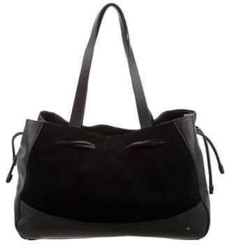 Halston Leather Tote Bag Black Leather Tote Bag