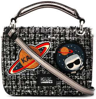 Karl Lagerfeld K/Space tweed shoulder bag