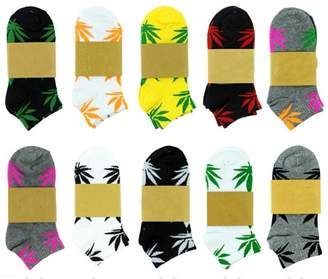 Spring Fever Unisex Marijuana Weed Leaf Printed Mix Socks