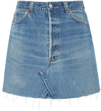 RE/DONE High-Rise Denim Mini Skirt Size: 24