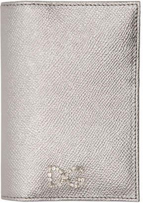 Dolce & Gabbana (ドルチェ & ガッバーナ) - Dolce And Gabbana Dolce and Gabbana シルバー クリスタル ロゴ パスポート ホルダー