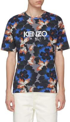 Kenzo 'Indonesian Flower' graphic logo print T-shirt