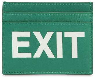 Vetements Exit Printed Leather Card Holder