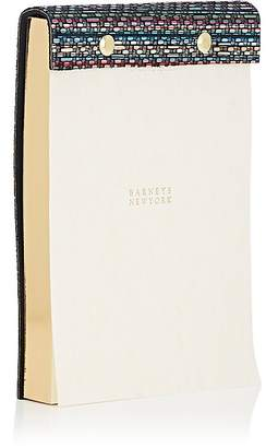 Barneys New York Graphic-Embossed Leather-Bound Notepad