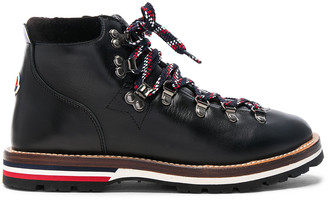 Moncler Leather Blanche Boots in Black | FWRD