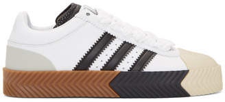 adidas By Alexander Wang by Alexander Wang White Skate Super Sneakers