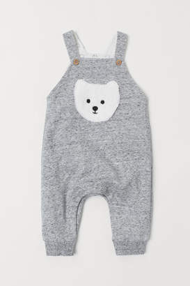 H&M Bib Overalls with Motif - Gray