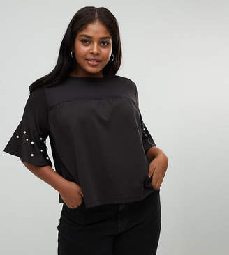 Koko faux pearl embellished top