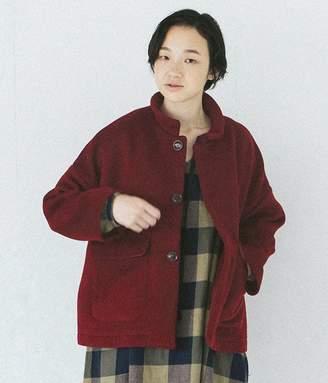 Ichi ウールツイルカルゼジャケット(C・バーガンディ)