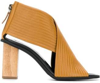 Christian Wijnants wooden heel sandals