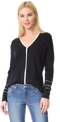 Derek Lam 10 Crosby Sweater with Blanket Stitch $425 thestylecure.com