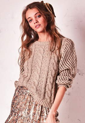 LoveShackFancy Cabled Rosie Sweater