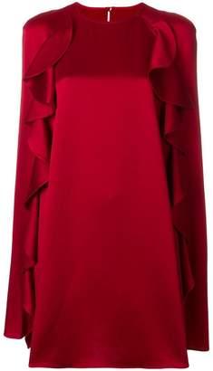 Valentino ruffled cape dress