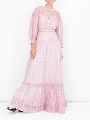 Calvin Klein Checked maxi dress