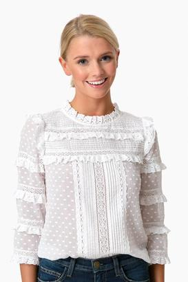 Rebecca Taylor Moon Dot Embroidery Top $350 thestylecure.com