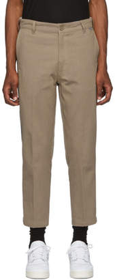 Dickies Construct SSENSE Exclusive Taupe and Black Tapered Strip Trousers