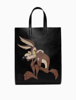 Calvin Klein wile e. coyote soft tote in palmellato leather
