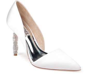 Badgley Mischka Collection Emily Crystal Heel Pointed Toe Pump