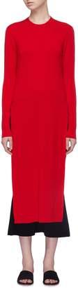 MS MIN Side split long knit top