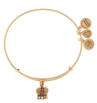 Alex and Ani Crystal Detail King Crown Pendant Expandable Wire Bangle