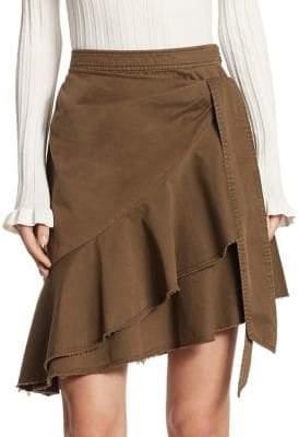 Cinq à Sept Anson Ruffle Twill Skirt