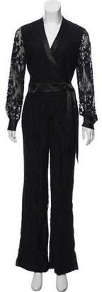 Diane von Furstenberg Lace Wide-Leg Jumpsuit