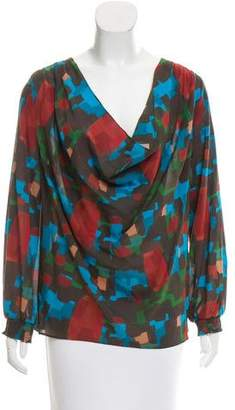 Alice + Olivia Printed Silk Top