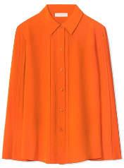 Tory Burch Pleated Silk Shirt