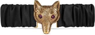 Satin belt with Fox buckle $550 thestylecure.com