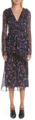 Jason Wu Print Silk Chiffon Midi Dress