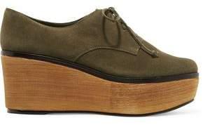 Schutz Romia Suede Wedge Sneakers
