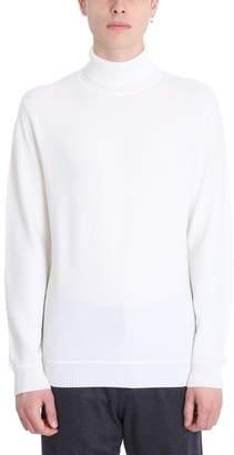 Ermenegildo Zegna White Wool Turtle Neck Sweater