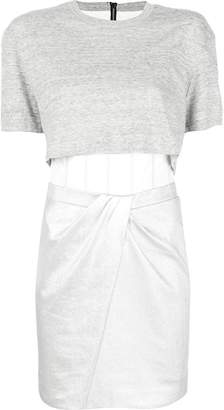 RtA panelled T-shirt dress