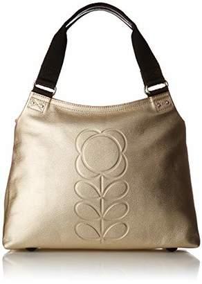 Orla Kiely Embossed Flower Stem Leather Classic Zip Shoulder